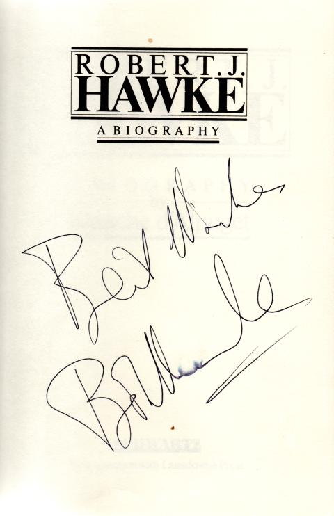 Bob hawke signed